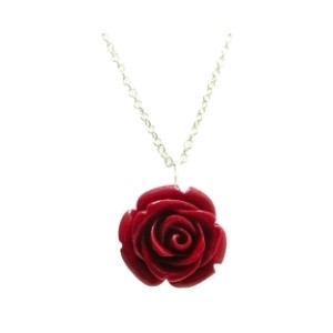 Red rose necklace jewels and lace mozeypictures Image collections